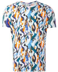 Carven Printed Round Neck T-Shirt - Lyst