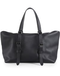 Gucci Leather Top Handle Duffel Bag - Lyst