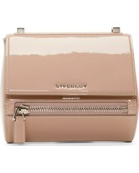 Givenchy Pink Patent Leather Mini Pandora Box Bag - Lyst
