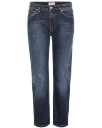 Acne Studios Row Relaxed-Fit Straight Cropped Jeans - Lyst