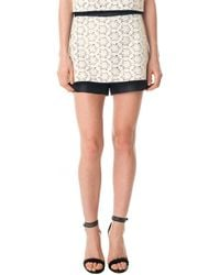 Tibi Layered Embroidery Lace Shorts - Lyst