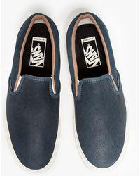 Vans Classic Slip On Ca in Slate - Lyst