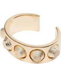 Balenciaga Classic Pale Gold Bracelet - Lyst
