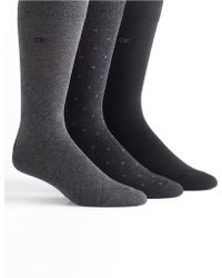 Calvin Klein Three Pack Dress Socks - Lyst