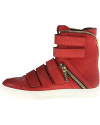 Pierre Balmain Velcro and Zipper Hitop Sneaker - Lyst