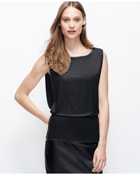 Ann Taylor Side Zip Crepe Shell - Lyst