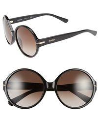 Max Mara Women'S 'Detail I/S' 56Mm Round Sunglasses - Black - Lyst