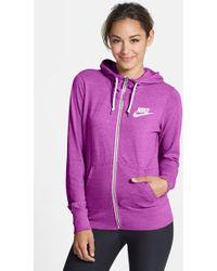 Nike 'Gym Vintage' Zip Front Hoodie - Lyst