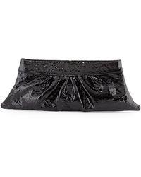Lauren Merkin Louise Patent Calfskin Clutch Bag - Lyst