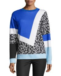 Prabal Gurung - Long-sleeve Colorblock Sweatshirt - Lyst