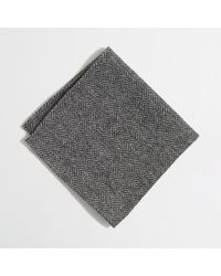 J.Crew - Factory Wool Herringbone Pocket Square - Lyst