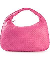Bottega Veneta Pink Intrecciato Tote - Lyst
