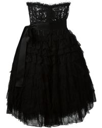 Dolce & Gabbana Lace Bustier Dress - Lyst