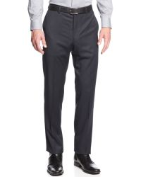 Calvin Klein Slimfit Dress Pants Navy Check - Lyst