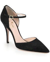 Kate Spade Lanora Lurex Ankle-Strap Pumps - Lyst