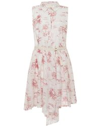 Band of Outsiders Floral Print Shirtdress white - Lyst