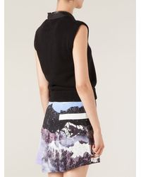Givenchy Cropped Zipped Tank Top - Lyst