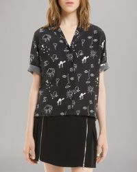 Sandro Shirt Courtney Silk - Lyst
