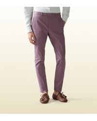 Gucci Stretch Gabardine Sharp Pant - Lyst