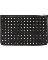 Alexander McQueen - Black And Gold Studded Pouch - Lyst