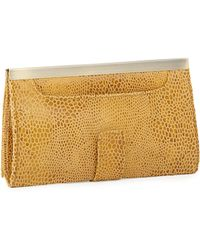 Hobo Maxine Metallic Snakeprint Leather Wallet - Lyst