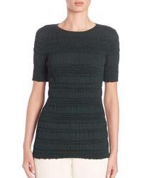Nina Ricci   Short-sleeve Crinkled Silk Pullover   Lyst