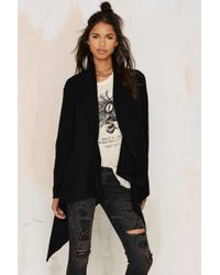 Nasty Gal | Cold Front Drape Cardigan | Lyst