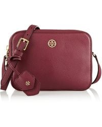 Tory Burch Robinson Texturedleather Shoulder Bag - Lyst