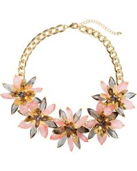 H&M Necklace With Flowers - Lyst