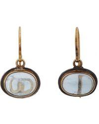 Judy Geib Aquamarine Gold  Oxidized Silver Drop Earrings - Lyst
