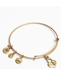 ALEX AND ANI 'Key To My Heart' Expandable Wire Bangle - Lyst