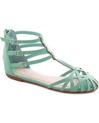 J.p. Original Corp. Dew The Honors Sandal in Mint - Lyst