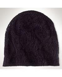 Ralph Lauren Black Label Knit Skull Cap - Lyst