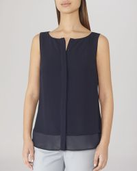 Reiss Tank - Liona Double Layer - Lyst