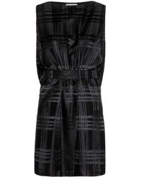 Balenciaga Black Silk Dress - Lyst
