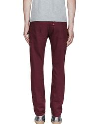 Levi's Burgundy 519 Bedford Trousers - Lyst