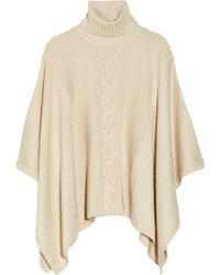 Alice By Temperley - Octavia Cable-Knit Wool-Blend Poncho - Lyst