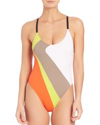 Milly | One-piece Amalfi Colorblock Maillot | Lyst