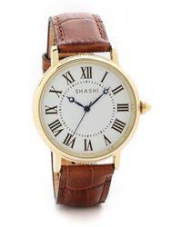 Shashi - Classique Watch - Gold/Saddle - Lyst