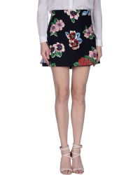 Clements Ribeiro | Chita Floral-Print Pleated Cotton-Blend Mini Skirt | Lyst