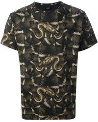 Marcelo Burlon - Snake Print Tshirt - Lyst