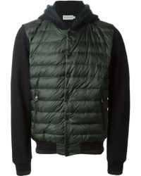 Moncler Padded Panel Cardigan - Lyst