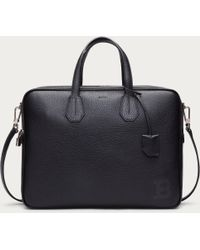 Bally - Bresson Men ́s Leather Business Bag In Black - Lyst