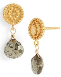 Satya Jewelry - 'celestial' Pyrite Drop Earrings - Pyrite - Lyst