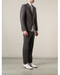 Gucci Gray Fitted Suit - Lyst