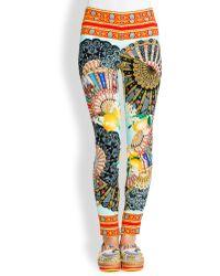 Dolce & Gabbana Charm Foulard-Print Leggings - Lyst