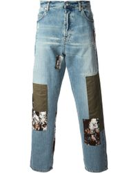 McQ by Alexander McQueen Patched Loose Fit Jeans - Lyst