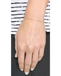 Elizabeth And James Kara Hand Bracelet Yellow Gold - Lyst