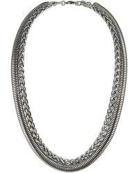 Topshop Womens Snake and Twist Chain Necklace Silver - Lyst