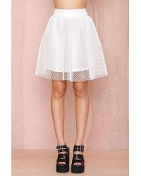 Nasty Gal First String Mesh Skirt - Lyst